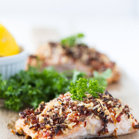 Sun-dried Tomato Crusted Salmon