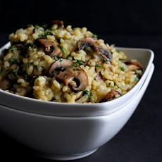 Toasted Brown Rice with Mushrooms & Thyme