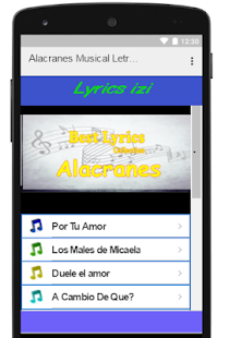 Alacranes Lyrics - screenshot