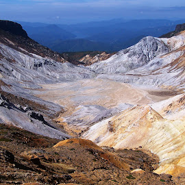 Adatara Vulcano by Victor Eliu - Landscapes Mountains & Hills ( crater, mountains, adatara, japan, volcano, sulfur, honshu, landscape )