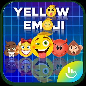 Yellow Emoji TouchPal Keyboard Sticker For PC