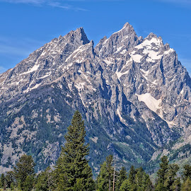 The Grand Teton by Jim Czech - Landscapes Mountains & Hills ( mountains, cliffs, mountain, wyoming, tetons )