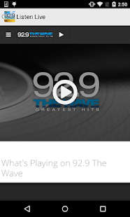 92.9 The Wave - screenshot