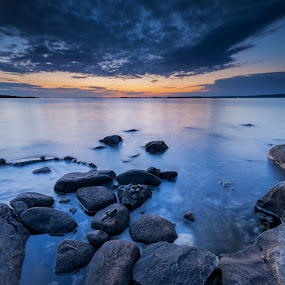 Sunset at Lilleby by Martin Hedlund - Nature Up Close Rock & Stone