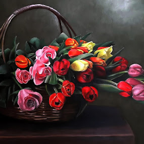 Spring by Kinga Fekete Kormos - Painting All Painting ( oil on canvas 60x50 cm )