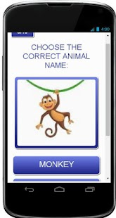 KINDERGARTEN ANIMALS QUIZ - screenshot