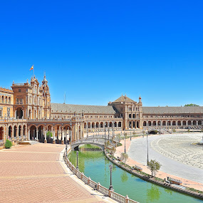 Plaza de Espana, Seville, Spain by Vinay Tyagi - Buildings & Architecture Public & Historical