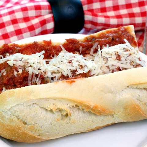 Slow Cooker Meatball Sub Sandwich