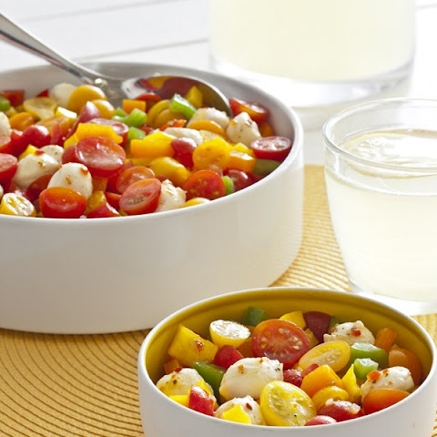 Sunny's Quick Tomato, Peppers & Mozzarella Salad