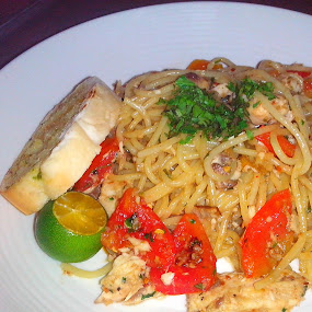 Spicy Tinapa Pasta by Anjsh Lacanlale - Food & Drink Plated Food ( plated, food, fish, spicy, pasta )