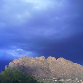 Blue Clouds by Nibia Orona - Landscapes Cloud Formations ( clouds, catalinas, blue clouds, blue, arizona, storm clouds, blue storm clouds, serenity, mood, factory, charity, autism, light, awareness, lighting, bulbs, LIUB, april 2nd )