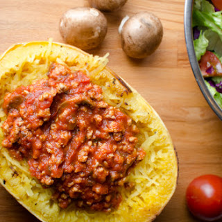 Baked Spaghetti Squash and Meat Sauce
