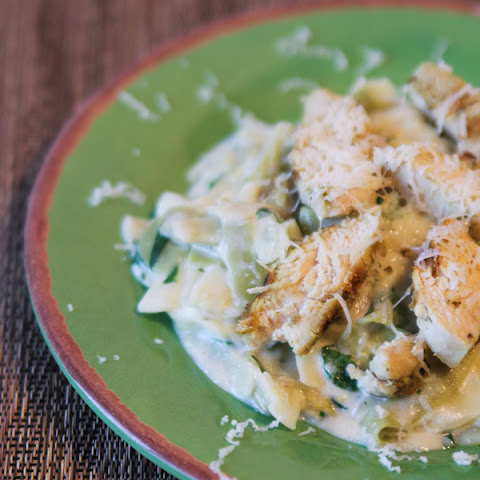 Spinach and Artichoke Chicken with Creamy Pasta