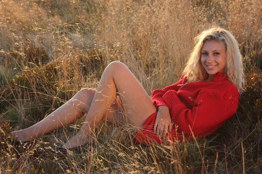 Field by Nicu Buculei - People Portraits of Women ( field, blonde, red, woman, light, portrait, golden hour, women, lady, , beautiful )
