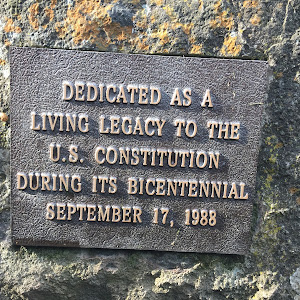 DEDICATED AS A LIVING LEGACY TO THE U.S. CONSTITUTION DURING ITS BICENTENNIAL SEPTEMBER 17, 1988