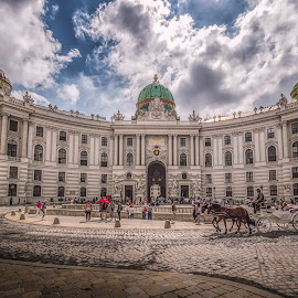 Hofburg by Ole Steffensen - Buildings & Architecture Public & Historical ( michaelerplatz, carriage, hofburg, austria, wien, vienna, architecture )