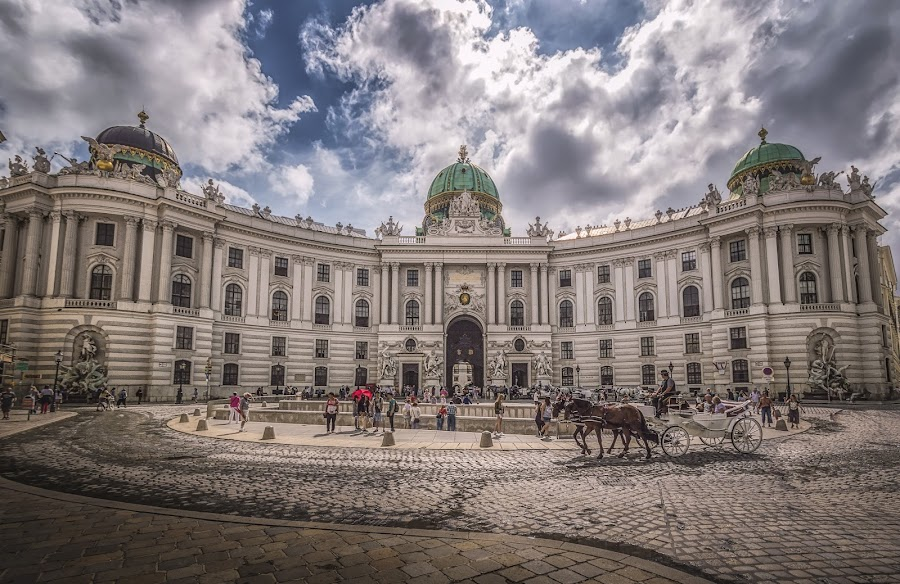 Hofburg by Ole Steffensen - Buildings & Architecture Public & Historical ( wien, hofburg, vienna, carriage, architecture, michaelerplatz, austria )