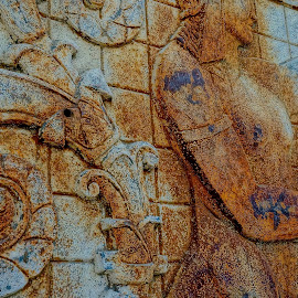 Old Art by Barbara Brock - Artistic Objects Other Objects ( wall carving, old carving, concrete drawing )