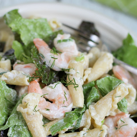 Cucumber Ranch Shrimp Pasta Salad