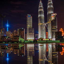 by Bert Wastelife - City,  Street & Park  Skylines ( night scene, long exposure, architecture, kuala lumpur )
