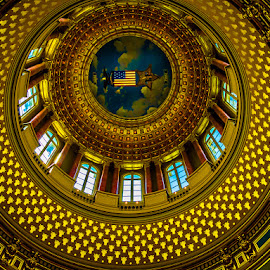 Circle of Gold by James Kirk - Buildings & Architecture Architectural Detail ( iowa, dome, circle, gold )