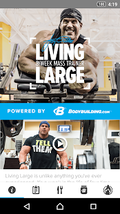 Living Large with Jay Cutler Fitness app screenshot for Android