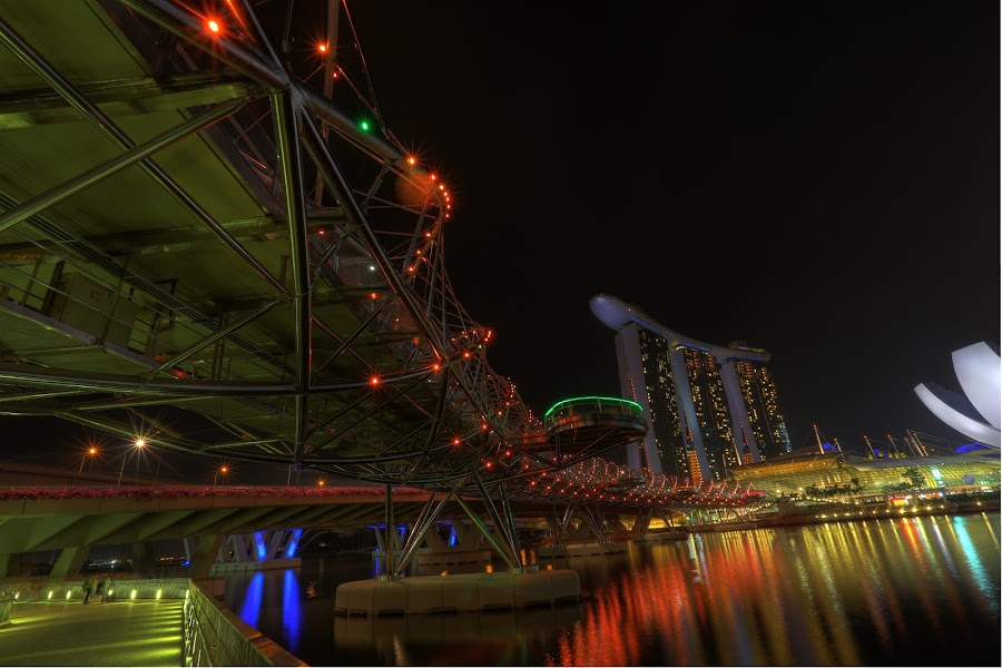 Helix Bridge, Marina Bay Sands, SIngapore by Steven Yeoh - Buildings & Architecture Other Exteriors