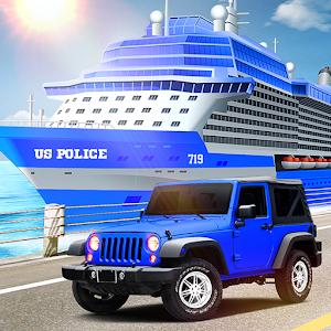 US Police Car Transport Cruise Ship Simulator 2018 For PC / Windows 7/8/10 / Mac – Free Download