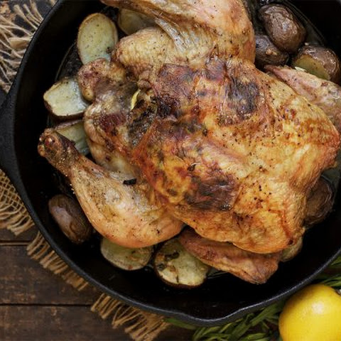 Tarragon Lemon Roast Chicken and Potatoes