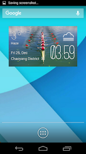 rowing weather widget/clock - screenshot