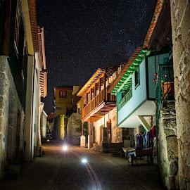 illuminated by Paulo Chaves - City,  Street & Park  Night ( lights, ucanha, streeet, night, portugal )