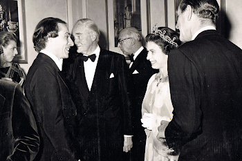 With the Queen and Prince Philip, Royal Albert Hall, 1976