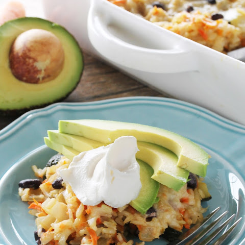 Mexican Brown Rice and Black Bean Casserole