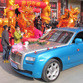 Arrival of Bridal Rolls-Royce by Dennis  Ng - Wedding Ceremony