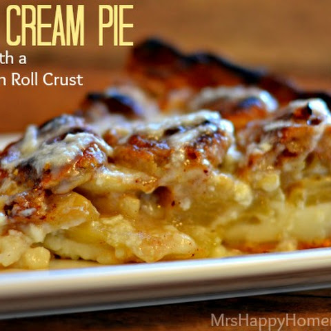 Apple Cream Pie with Cinnamon Roll Crust