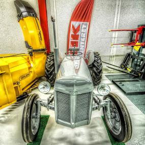 Veteran tractor by Benny Høynes - Transportation Other ( shop, photomatix, grey, tractor, norway )