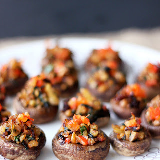 Vegan Grain-free Stuffed Mushrooms