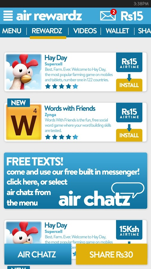 Air Rewardz Screenshot 1