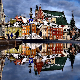 Warsaw Castle Square by Steve Cooke - City,  Street & Park  Historic Districts