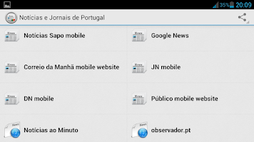 Screenshot of Portuguese News and Media
