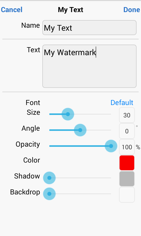 iWatermark+ Free Add Text Logo Screenshot 2