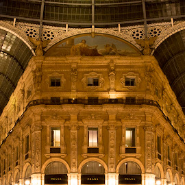 by Talbot Brooks - Buildings & Architecture Other Interior ( gallery vittorio, interior, prada, milan, night, vittorio, italy, milano )