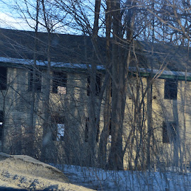 Abandoned by Sarah Burroughs-McGehee - Buildings & Architecture Public & Historical ( old, building, winter, brick, abandoned,  )