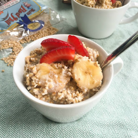 Overnight Refrigerator Strawberry Banana Coconut Steel Cut Oatmeal