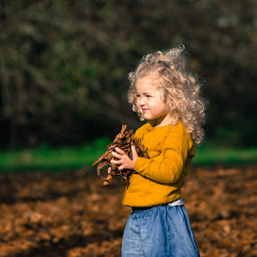 Autumn Leaves by Bearded Egg - Babies & Children Children Candids ( child, blonde, autumn, candid, leaves )