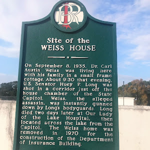 On September 8, 1935, Dr. Carl Austin Weiss was living here with his family in a small frame cottage. About 9:30 that evening, U.S.Senator Huey P. Long was shot in the corridor just off the house ...