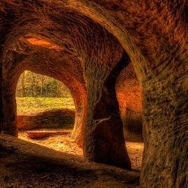 Pusté kostely caves by Klaus Müller - Landscapes Caves & Formations ( hdr, sandstone, landscapes, cave, rocks, historic )
