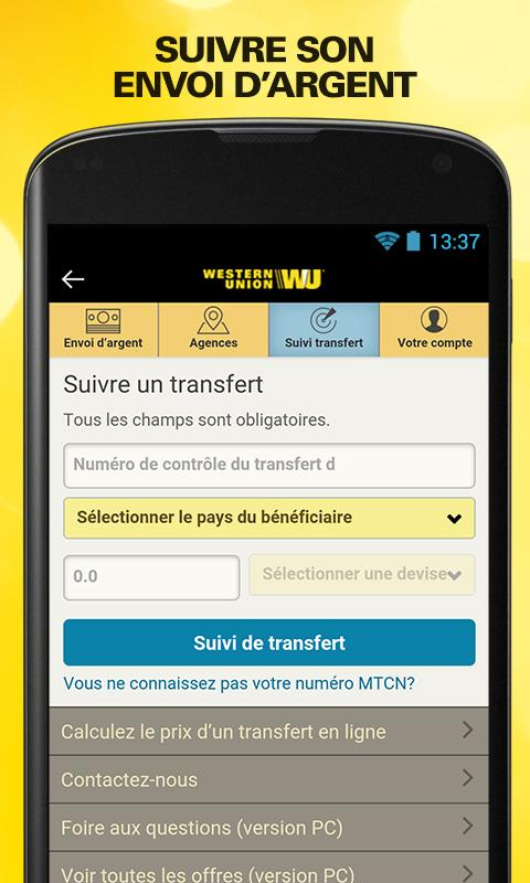 Send money with Western Union Screenshot 3
