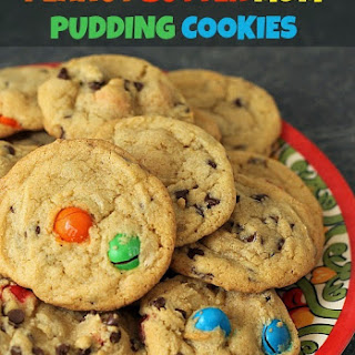 Peanut Butter M&M Pudding Cookies