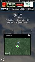 Screenshot of WDAM 7 Hattiesburg Weather